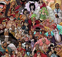 60 One Piece Characters  by Deer-Head-Xiris