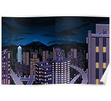 Mega Man Title Screen Poster