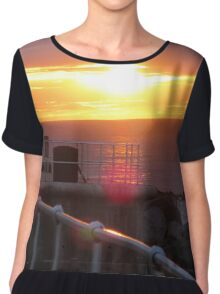 Sunset Over Norfolk Coast Chiffon Top