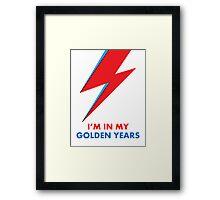"David Bowie ""I'm in my Golden Years"" original design Framed Print"