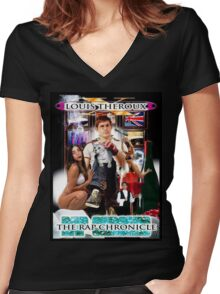 LOUIS THEROUX GANGSTA RAP ALBUM COVER Women's Fitted V-Neck T-Shirt