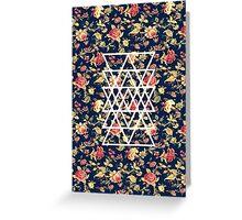 Geometric Floral Pattern Greeting Card