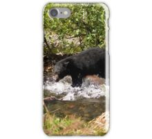 Bear Splash in Steep Creek iPhone Case/Skin