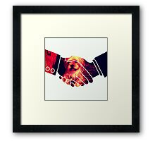 Dogs Animal Hands Illusion Most Popular Framed Print