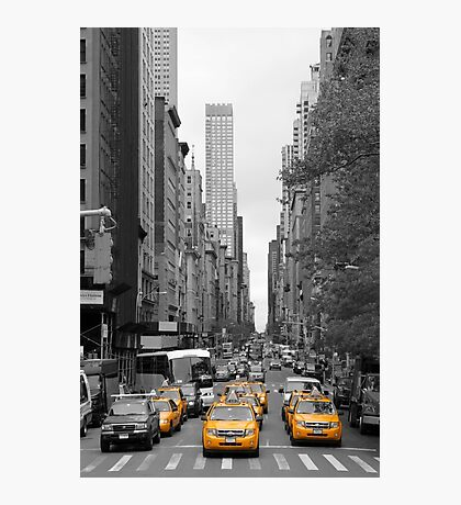 New Yorks Yellow Army Photographic Print