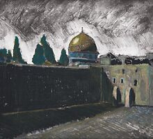 Wailing Wall & Dome of the Rock by alioarts