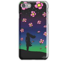Falling Flowers iPhone Case/Skin