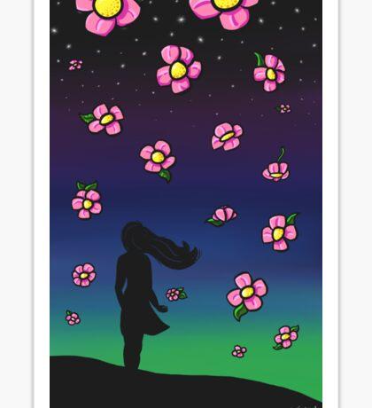 Falling Flowers Sticker