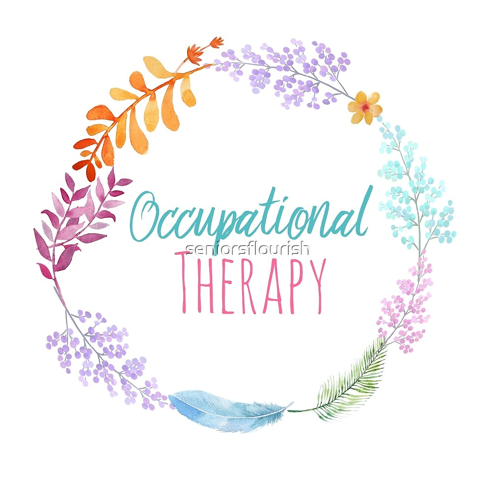 Quot Occupational Therapy Wreath Quot By Seniorsflourish Redbubble