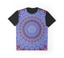 Mandala in violet and blue tones Graphic T-Shirt