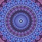 Mandala in violet and blue tones by JBlaminsky