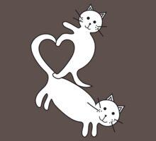 Heart Kittens One Piece - Short Sleeve