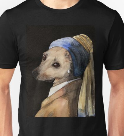 Baxter with the Pearl Earring Unisex T-Shirt