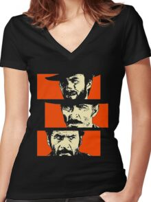 Blondie, Angel Eyes, Tuco Women's Fitted V-Neck T-Shirt