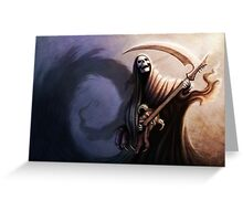 Death Guitarist Greeting Card