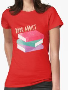 Book Addict Womens Fitted T-Shirt