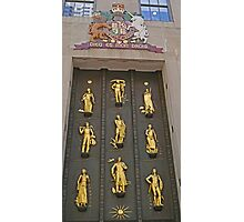 Door with the golden figures, New York Photographic Print