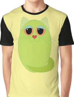CAT CHARTREUSE ONE Graphic T-Shirt