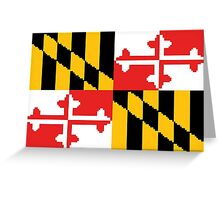 8-bit Maryland Flag Greeting Card