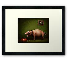 Pig-Dog Framed Print