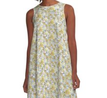 Forsythia in Muted Tones A-Line Dress