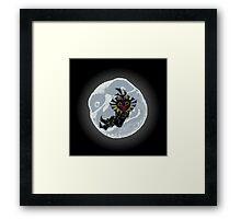 Moonlight skull kid Framed Print