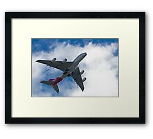 A380 on short final Framed Print