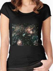 A Fusion of Fireworks Women's Fitted Scoop T-Shirt