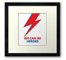 """David Bowie """"Heroes"""" original design Framed Print"""