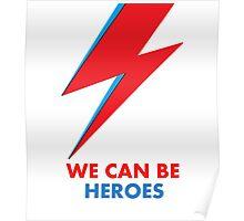 "David Bowie ""Heroes"" original design Poster"