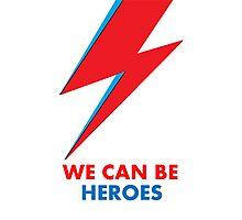 "David Bowie ""Heroes"" original design Photographic Print"