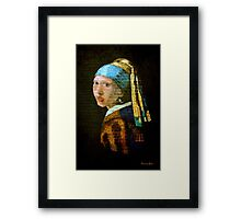 Girl on a Brick Wall ~ Graffiti Framed Print