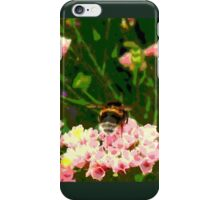 Bumble Bee in a Flower Garden iPhone Case/Skin