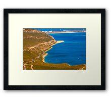 Arrábida coast. Serra da Arrábida. Framed Print