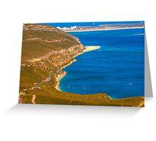 Arrábida coast. Serra da Arrábida. Greeting Card