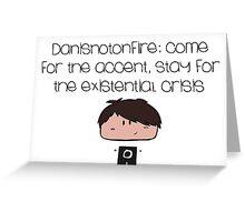 Danisnotonfire Greeting Card