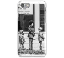 Bus Stop Family Mission iPhone Case/Skin