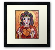 Listen to the Hive Heart Framed Print