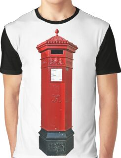 Big Red Victorian Mail Box, London, Royal Mail Graphic T-Shirt