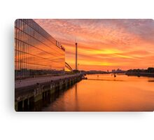 BBC Scotland after the sunset Canvas Print