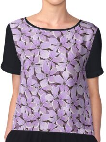 Flowers, Petals, Blossoms - Purple Chiffon Top