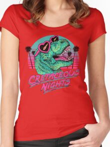 Cretaceous Nights Women's Fitted Scoop T-Shirt