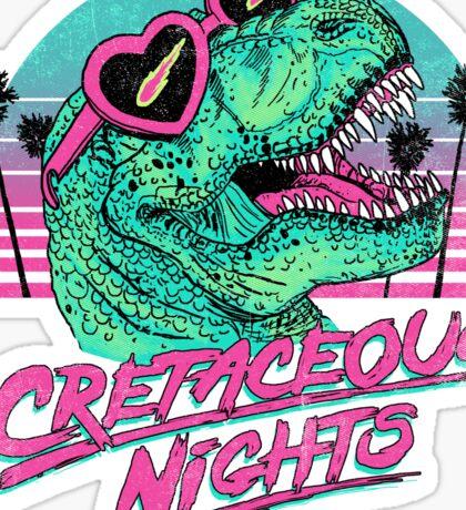 Cretaceous Nights Sticker