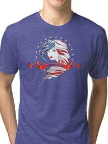 American Girl by stlgirlygirl Tri-blend T-Shirt