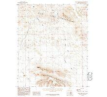 USGS TOPO Map Arizona AZ Yellow Medicine Butte 314204 1986 24000 Photographic Print