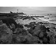 Pigeon Point Lighthouse BW Photographic Print