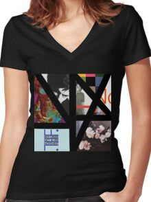 Complete Music (New Order) Women's Fitted V-Neck T-Shirt