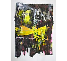 Amazon rainforest, Original mixed media Abstract painting Photographic Print