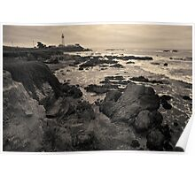Pigeon Point Lighthouse Toned Poster