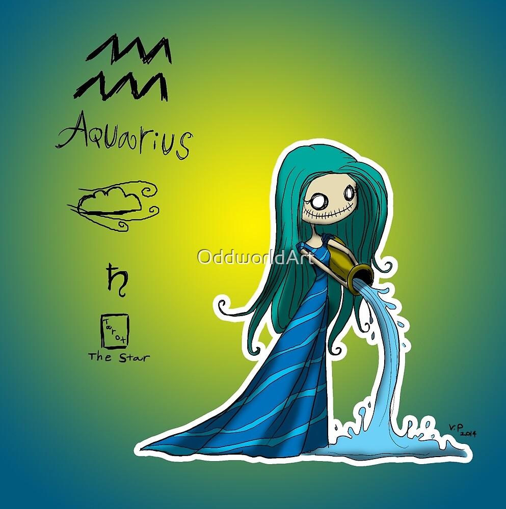 Astrology - Aquarius by OddworldArt